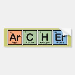 Bumper Sticker with Archer design