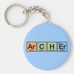 Basic Button Keychain with Archer design
