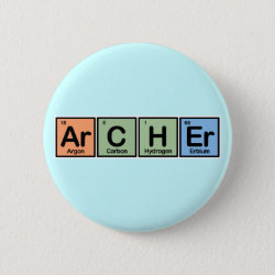 Round Button with Archer design