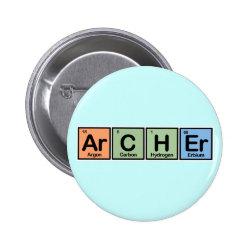 Round Button with Archer design