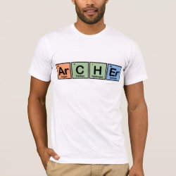 Men's Basic American Apparel T-Shirt with Archer design