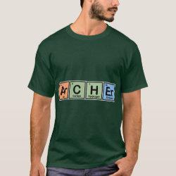 Men's Basic Dark T-Shirt with Archer design