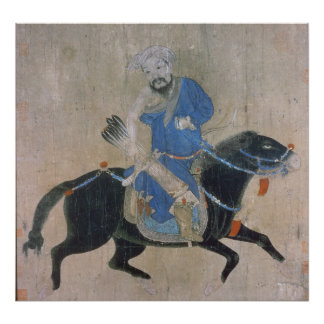 Archer mongol a caballo posters