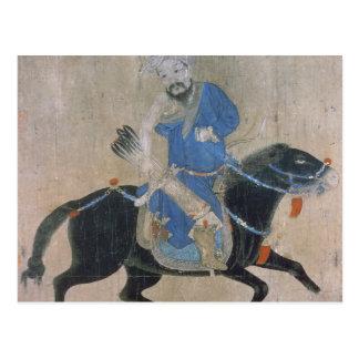 Archer mongol a caballo postal