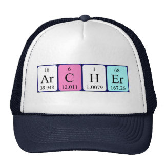 Archer periodic table name hat