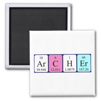 Archer periodic table name magnet