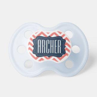 """""""Archer"""" personalizó el nombre - impresión de Chupete De Bebé"""