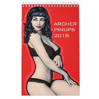 Archer Pin Ups 2018 Calendar