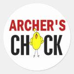 Archer's Chick Round Sticker