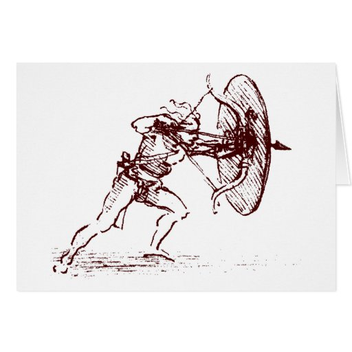 archer tarjeta de felicitación