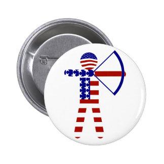 Archer Todo-Americano/tiro al arco Pin Redondo De 2 Pulgadas