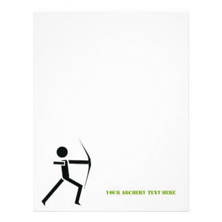 Archer with his bow black, green archery custom letterhead