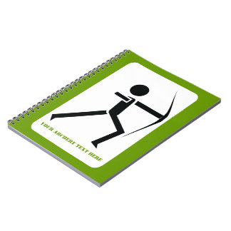 Archer with his bow black, green archery custom notebook