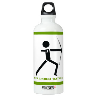 Archer with his bow black, green archery custom SIGG traveler 0.6L water bottle