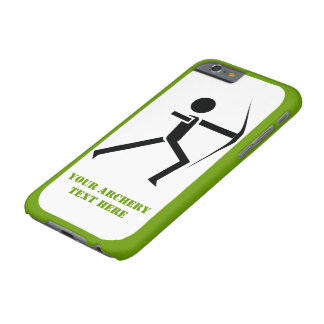 Archer with his bow black, green archery modern barely there iPhone 6 case