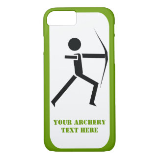 Archer with his bow black, green archery modern iPhone 7 case
