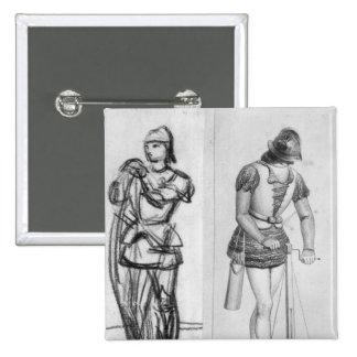 Archer y ballestero pin cuadrado
