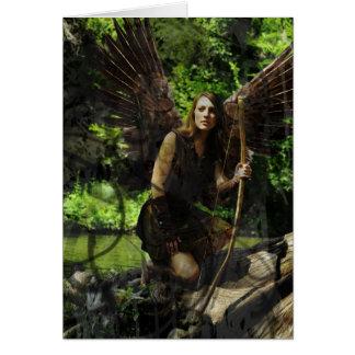 Archeress Woods Fairy Greeting Card