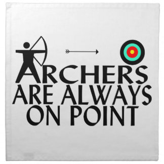 Archers Are Always On Point Cloth Napkin