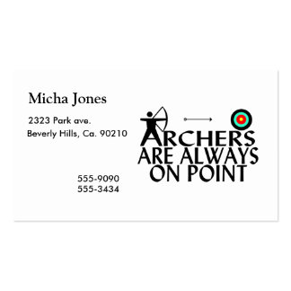 Archers Are Always On Point Double-Sided Standard Business Cards (Pack Of 100)