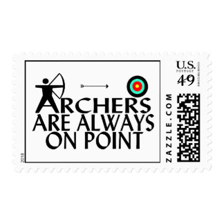 Archers Are Always On Point Postage