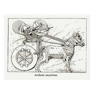 Archers asirios, vintage que dibuja 1890 postales