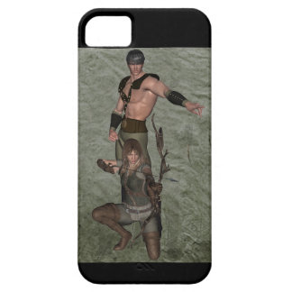 Archers Black Back 001 iPhone SE/5/5s Case