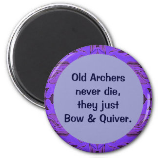 Archers bow and quiver 2 inch round magnet