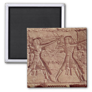 Archers, detail from the hunt of Ramesses III 2 Inch Square Magnet