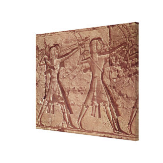 Archers, detail from the hunt of Ramesses III Canvas Print
