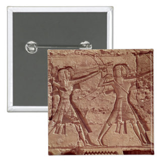 Archers, detail from the hunt of Ramesses III Pinback Button