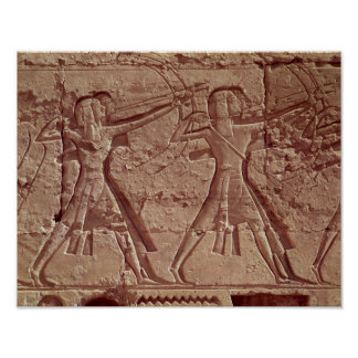 Archers, detail from the hunt of Ramesses III Poster