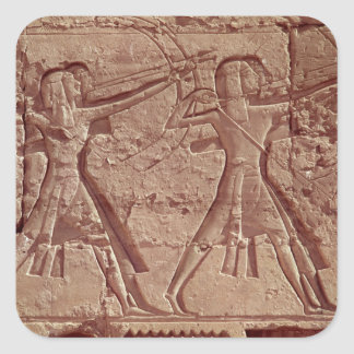 Archers, detail from the hunt of Ramesses III Square Sticker