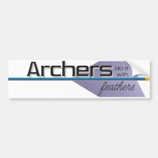 Archers do it... bumper sticker
