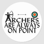 Archers en punto pegatina redonda