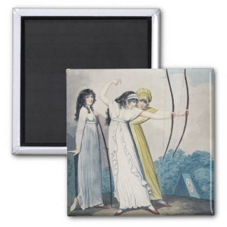 Archers, engraved by J.H. Wright (fl.1795-1838) an 2 Inch Square Magnet