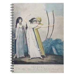 Archers, grabados por J.H. Wright (fl.1795-1838) Notebook