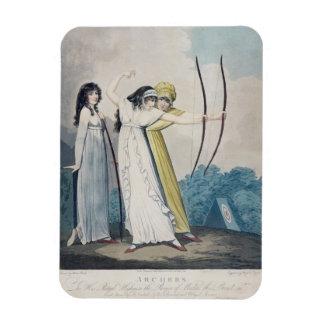 Archers, grabados por J.H. Wright (fl.1795-1838) Iman Rectangular