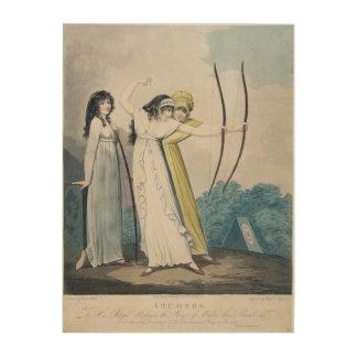 Archers, grabados por J.H. Wright (fl.1795-1838) Cuadros De Madera