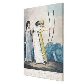 Archers, grabados por J.H. Wright (fl.1795-1838) Impresión En Lona
