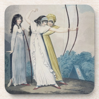 Archers, grabados por J.H. Wright (fl.1795-1838) Posavasos De Bebida