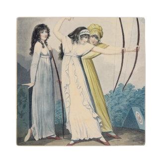 Archers, grabados por J.H. Wright (fl.1795-1838) Posavasos De Madera