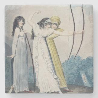 Archers, grabados por J.H. Wright (fl.1795-1838) Posavasos De Piedra