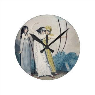 Archers, grabados por J.H. Wright (fl.1795-1838) Reloj Redondo Mediano