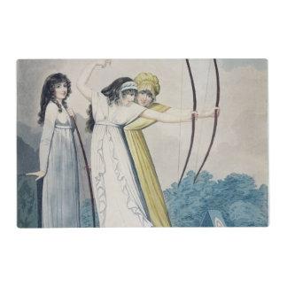 Archers, grabados por J.H. Wright (fl.1795-1838) Tapete Individual