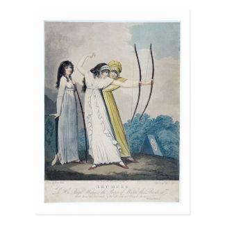 Archers, grabados por J.H. Wright (fl.1795-1838) Tarjeta Postal