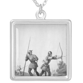 Archers libres durante el reinado de Louis XI Colgante Cuadrado