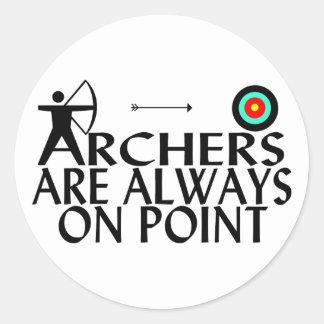 Archers On Point Classic Round Sticker