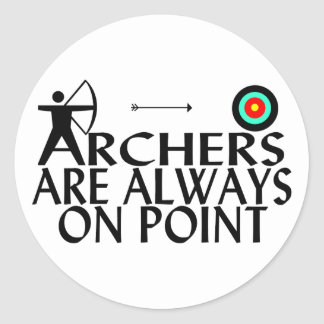 Archers On Point Stickers