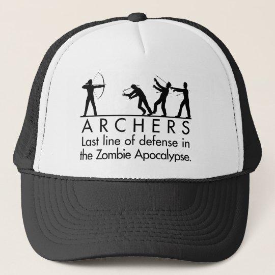 d83010f2 Archers VS Zombies Trucker Hat | Zazzle.com